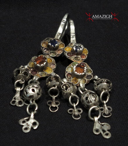 Antique Large Berber Earrings - Ouarzazate Region, Morocco
