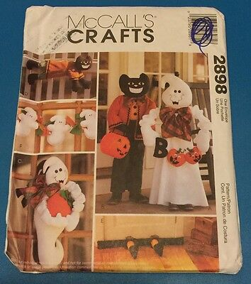 McCalls Crafts 2898 Halloween Decorations Sewing Pattern Greeters Ghost  (Halloween Decoration Crafts Adults)