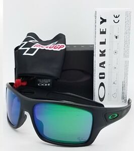 32f69f264fc NEW Oakley Turbine sunglasses Matte Black Jade Moto GP 9263-15 AUTHENTIC  Green