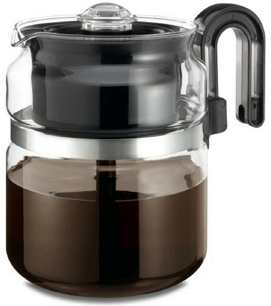 Stovetop Percolator Coffee Pot Glass 8 cup 40 oz …