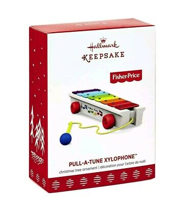 2017 Hallmark Pull-a-Tune Xylophone Ornament  FISHER-PRICE Christmas