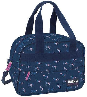 Pferde Sporttasche kleine Reisetasche Tasche Pony Schultertasche blau - Pferde Schulter Tasche