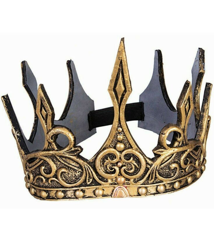 Gold Crown King Evil Queen Prince Princess Costume Accessory Game Thrones Cersei