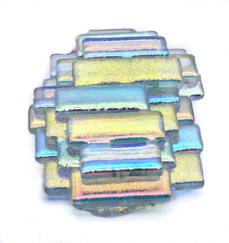 "Vintage Art Glass Brooch  & Pendant Iridescent Handmade Artisan 1 3/4"""