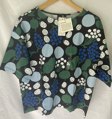 Uniqlo Marimekko Short Sleeve Graphic T-Shirt Multicoloured Size L Womens