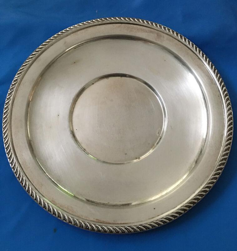 Preisner Sterling Silver 9.5 Inch Large Plate P.S CO        196 Grams