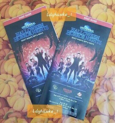 Halloween Night Events (2 2019 HHN 29 Universal Studios Halloween Horror Nights Brochure Event Guide)