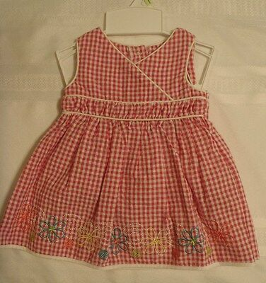 Youngland 3-6 6-9 Month Embroidered Floral Hem Seersucker Sundress Choice NWT
