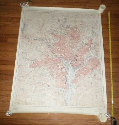 Fantastic, very large colored map of Washington D.C. (1951) Scarce!