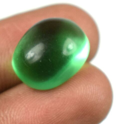 12.80 Ct Muzo Colombian Emerald Natural Gemstone Oval Cabochon Certified G6922