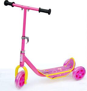 kinder dreirad 3 rad pink kinderroller tretroller roller. Black Bedroom Furniture Sets. Home Design Ideas