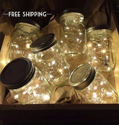 1 Fairy Lights Mason Jar, String Lights, Mason Jar Lights, Wedding Centerpiece ()
