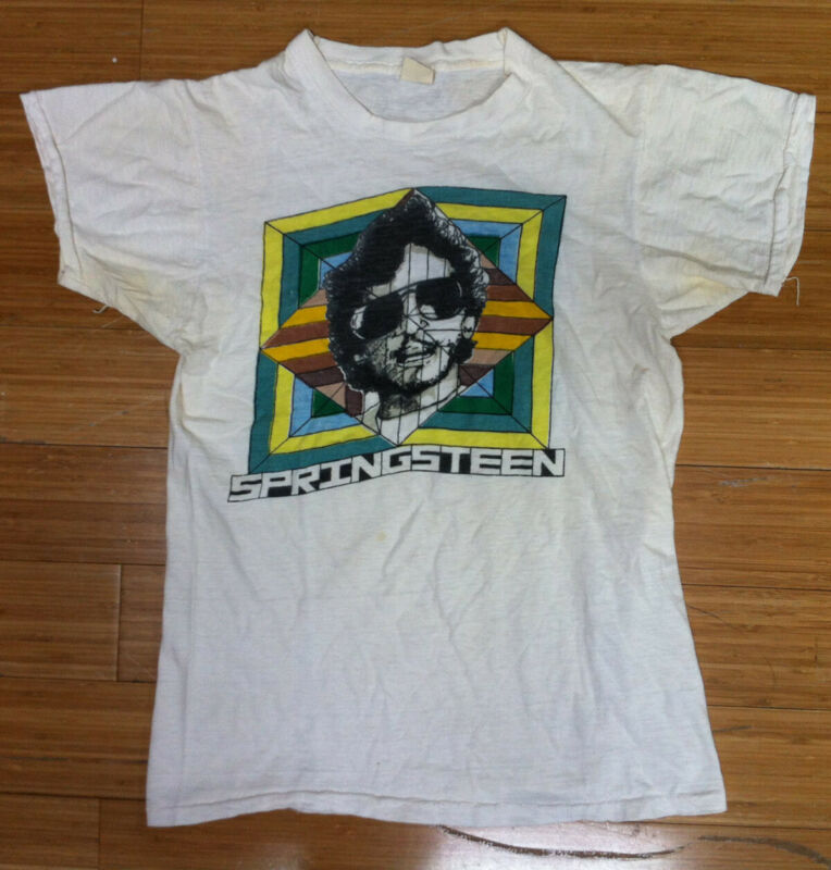 BRUCE SPRINGSTEEN Vintage Original 1970s Promo (?) Concert (?) T-Shirt