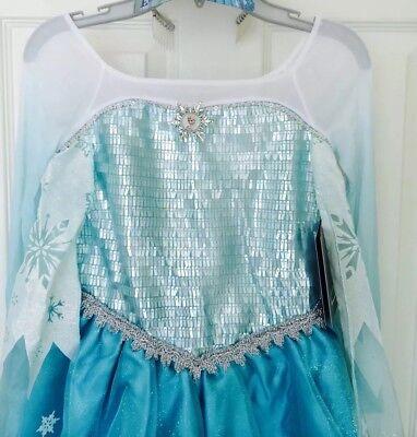 Disney Store Frozen ELSA COSTUME DRESS Size 7/8 And SHOES 13/1 NWT (Elsa Costume Shoes)