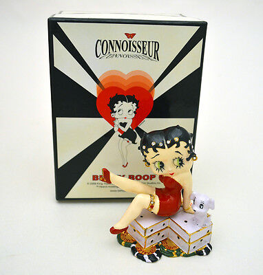 """OFFICIAL BETTY BOOP FIGURINE TRINKET BOX """"DOUBLE DICE"""" BY CONNOISSEUR, NEW in BX"""