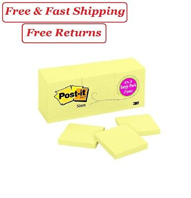 Post-it Original Notes 3 X 3 Canary Yellow 27 Pads 2700 Total Sheets