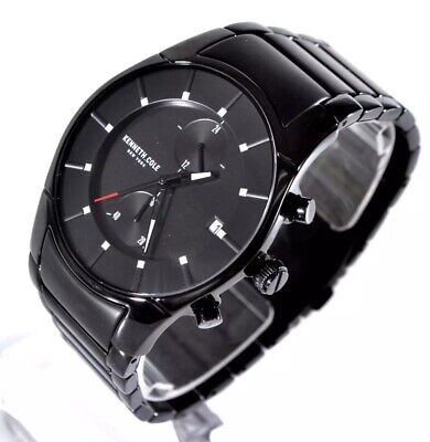 172db5b961c7 Kenneth Cole New York Mens Black Stainless Steel Multifunction KC15176002
