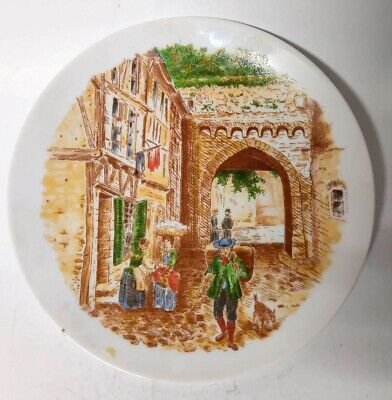 Bavaria Porcelain Dish Art Sweets Trinket Jewelry Glass Gift White Vintage Plate