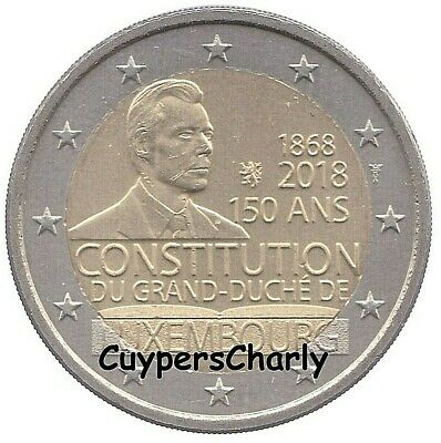 Luxemburg 2018 2 Euro UNC 150 Jaar Luxemburgse Grondwet