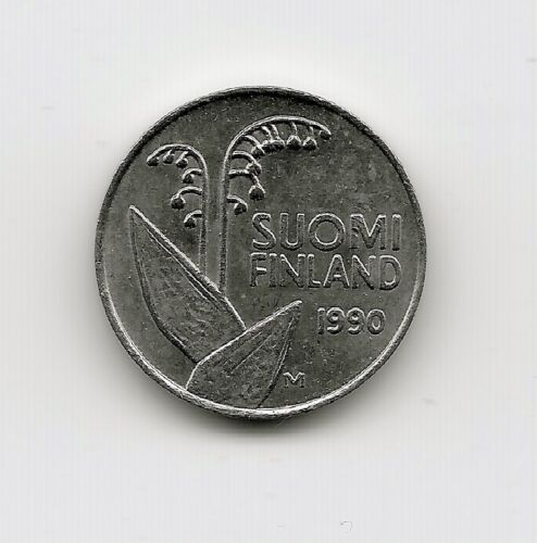 World Coins - Finland 10 Penni 1990 Coin KM# 65