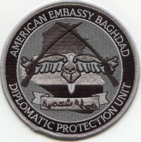 AMERICAN EMBASSY BAGHDAD DIPLOMATIC PROTECTION UNIT subdued gray POLICE PATCH