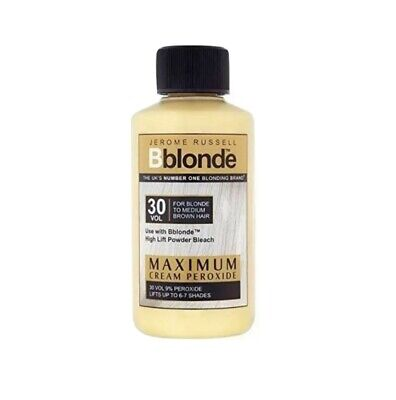 2 x Jerome Russell BBlonde Maximum Cream Peroxide 30vol Hair Dye Blonde Beach