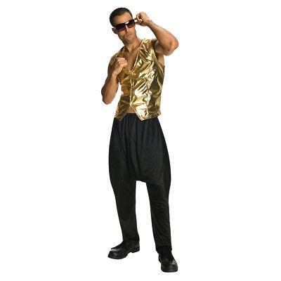 Black MC Hammer Parachute Pants Vanilla Ice 90's 80's Rap Hip Hop Mens Costume - 90s Hip Hop Costume