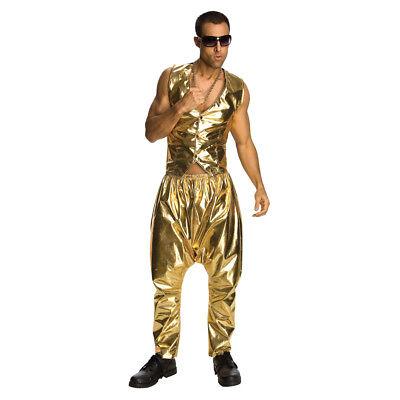 Gold MC Hammer Pants Parachute Vanilla Ice 90's 80's Rap Hip Hop Mens Costume](Rap Costume)