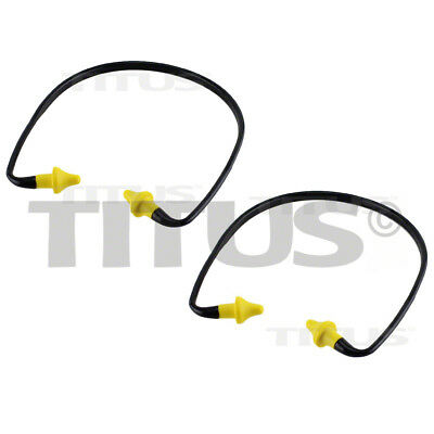 2 Titus Earplugs Behind Ear Head Neck Hearing Protection Noise Reduction Safety