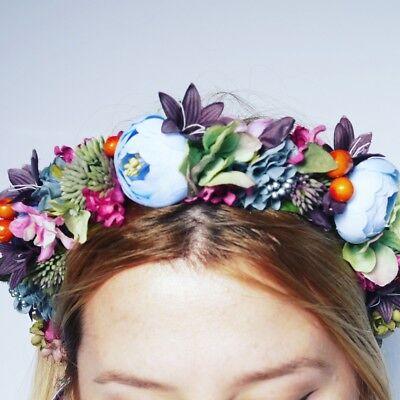 Frida Kahlo Flower Headband (Frida Kahlo Flower Crown / headband / hairband - Bridal)