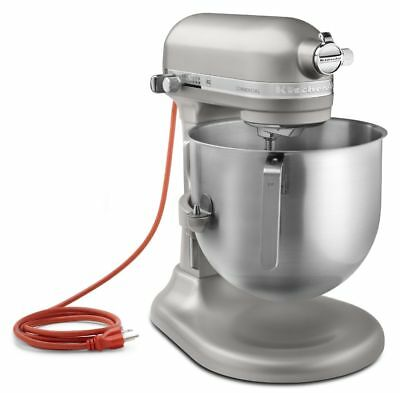 KitchenAid KSM8990NP Commercial 8-Qt Bowl NSF Stand Mixer 1.3HP Nickel Pearl