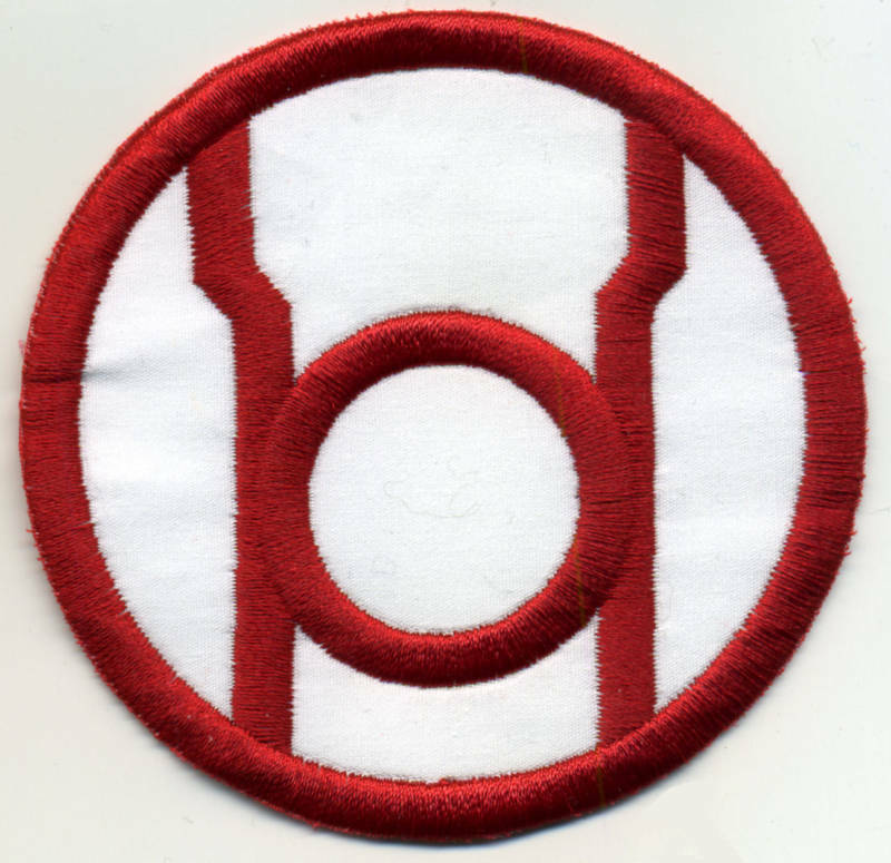 """2.5"""" Red Lantern Corps Classic Style Embroidered Iron-On Patch"""