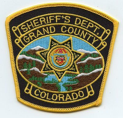 GRAND COUNTY COLORADO CO SHERIFF POLICE PATCH