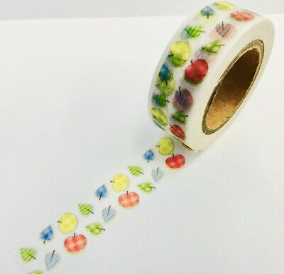 Patterned Apple Harvest Fall Washi Tape Papercraft Planner Supply DIY Craft  - Fall Washi Tape