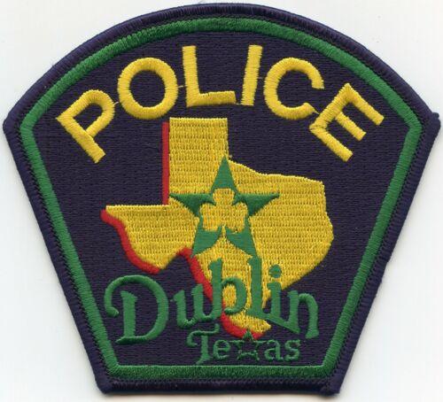 DUBLIN TEXAS TX POLICE PATCH