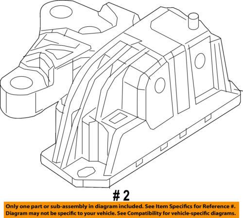 details about jeep chrysler oem 17 18 compass engine torque strut mount 68253037ad 5.3 Engine Diagram