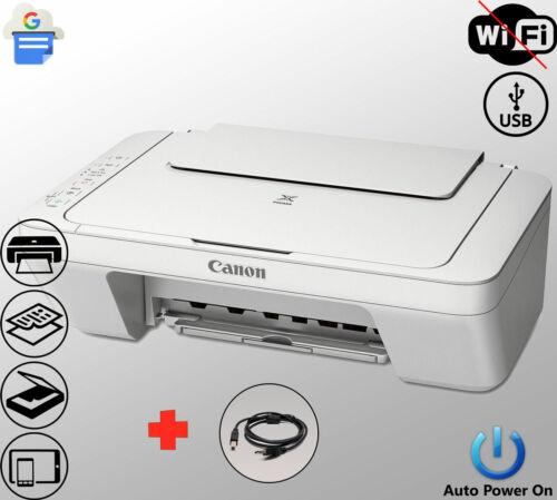 Canon Printer Scanner Copier Photo All-in-One USB Inkjet White (Not Wireless)