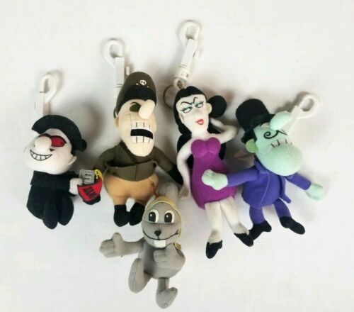 Rocky Bullwinkle Friends Boris Natasha Snidely Fearless Leader Plush Keychain