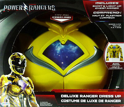 Power Rangers Kids Deluxe Dress Up Yellow Ranger NIB ()