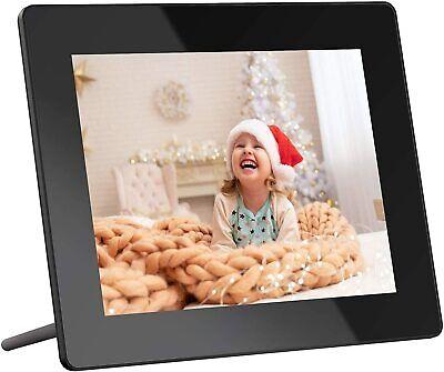 Digital Photo Frame, 8 Inch WiFi IPS Touch Screen HD Display 16GB Storage USB (Q