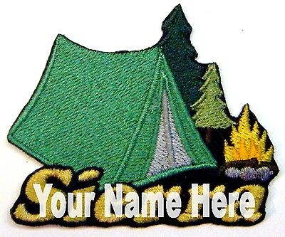 Camping Custom Iron-on Patch With Name Personalized Free ()