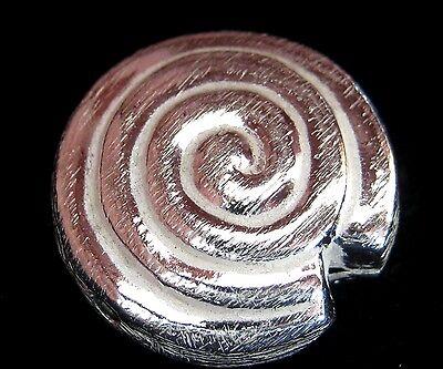 METALLPERLE Spacer Zwischenelemente Schnecke 20mm versilbert gebürstet Perlen