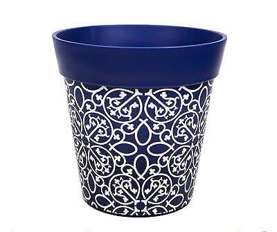 Hum Flowerpots Blue Lattice Plant Pot, outdoor/indoor planter 22cm x 22cm…