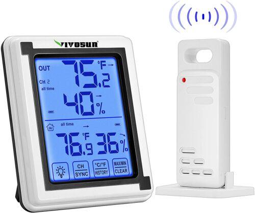 VIVOSUN Digital Hygrometer Thermometer Humidity Monitor with 200ft/60m wireless