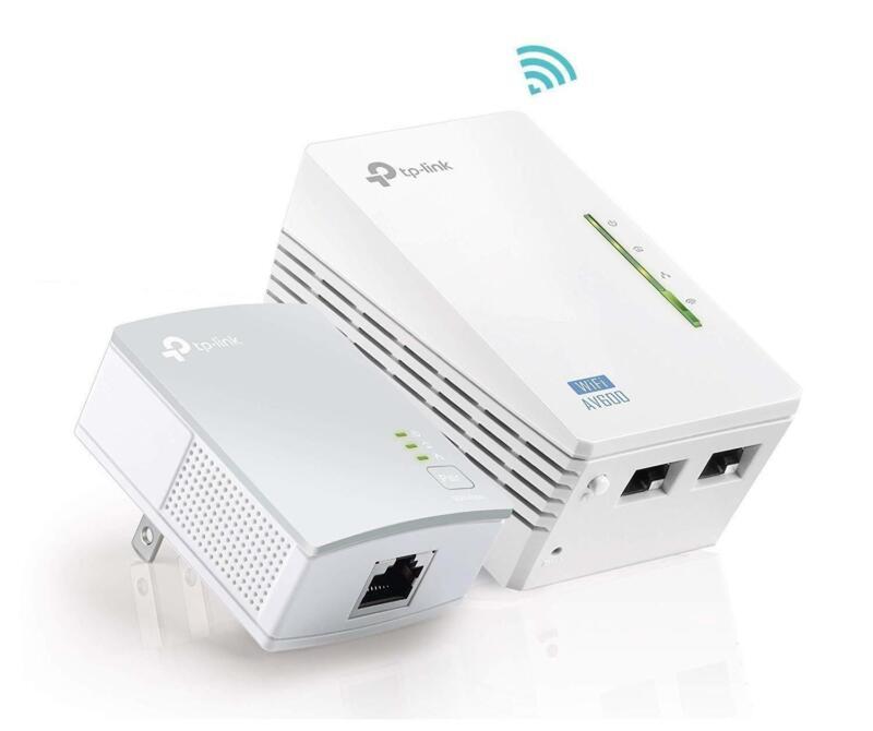 TP-Link TL-WPA4220 KIT AV600 Powerline WiFi Extender Powerline Adapter N300 WiFi