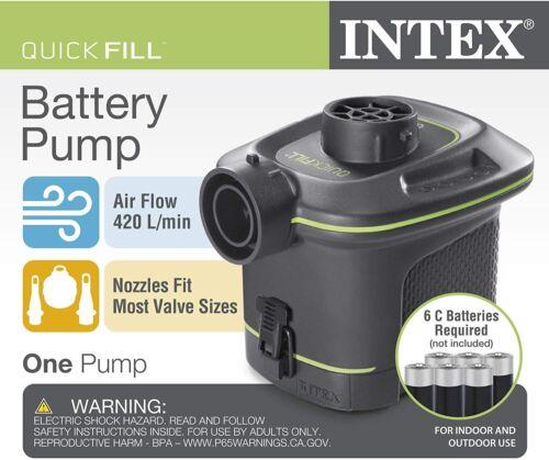 NEW! Intex ORIGINAL Quick-Fill Battery Air Pump 6 C-Cell Bat