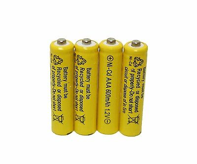 4 pcs Rechargeable NiCd AAA 600mAh Ni-Cad Batteries for Solar-Powered Light (600mah Nicad)