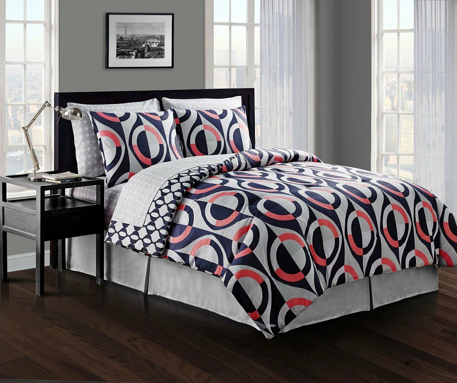 NEW Avondale Manor 8 Piece Grayson Comforter Set, Queen