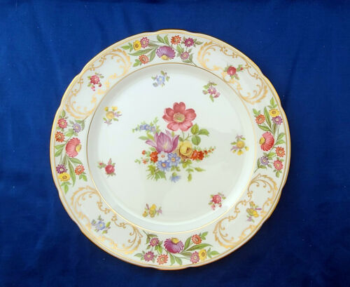 "Dresden Sprays English Fine Bone China Hammersley Pattern 9 1/2"" Dinner Plate"