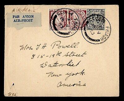 DR WHO 1953 IRELAND CLUAIN FHIADH AIRMAIL TO USA  g19748